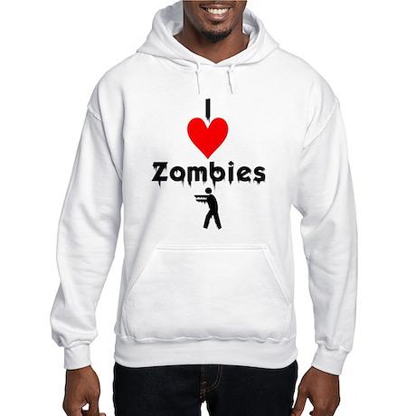 I Love Zombies Hooded Sweatshirt