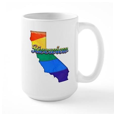 Riverview, California. Gay Pride Large Mug