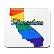 Riverview, California. Gay Pride Mousepad