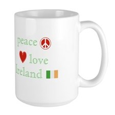 Peace, Love and Ireland Mug