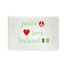 Peace, Love and Ireland Rectangle Magnet