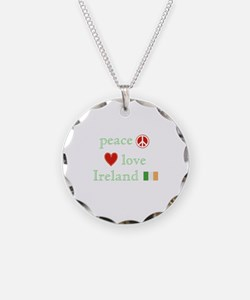 Peace, Love and Ireland Necklace