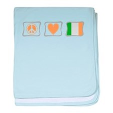 Peace, Love and Ireland baby blanket