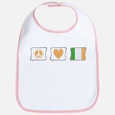 Peace, Love and Ireland Bib