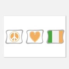 Peace, Love and Ireland Postcards (Package of 8)