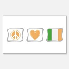 Peace, Love and Ireland Decal