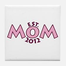 New Mom Est 2012 Tile Coaster