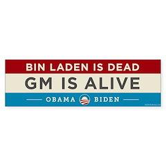 Bin Laden Dead, Auto Industry Alive Bumper Sticker