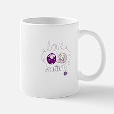 cute sheep love knitting Mug