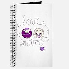 cute sheep love knitting Journal