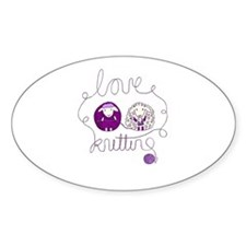 cute sheep love knitting Decal