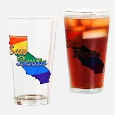 San Benito, California. Gay Pride Drinking Glass