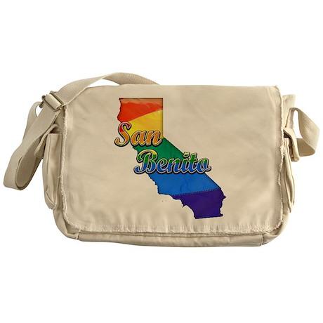 San Benito, California. Gay Pride Messenger Bag