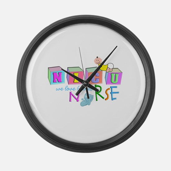 NICU Baby Large Wall Clock