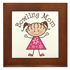 Bowling Mom Framed Tile