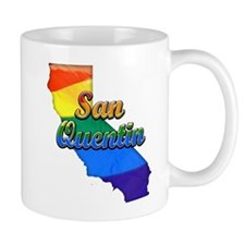 San Quentin, California. Gay Pride Small Mug