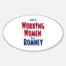 Romney WOMEN Sticker (Oval)