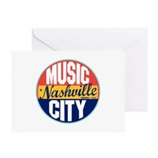 Nashville Vintage Label Greeting Card