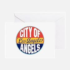 Los Angeles Vintage Label Greeting Card