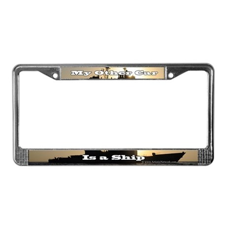 Humorous Navy License Plate Frame