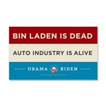 Bin Laden Dead, Auto Industry Alive Car Magnet 20