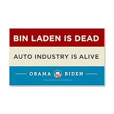 Bin Laden Dead, Auto Industry Alive Car Magnet 20