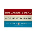 Bin Laden Dead, Auto Industry Alive Rectangle Magn