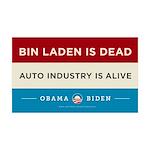 Bin Laden Dead, Auto Industry Alive 38.5 x 24.5 Wa
