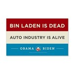Bin Laden Dead, Auto Industry Alive 22x14 Wall Pee