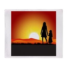 Cute Sunrise Throw Blanket