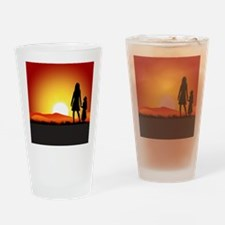 Cute Sunrise Drinking Glass
