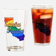 Santa Paula, California. Gay Pride Drinking Glass