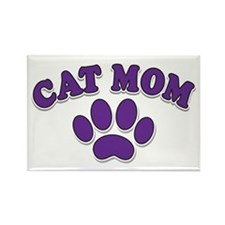 Cat Mom Rectangle Magnet