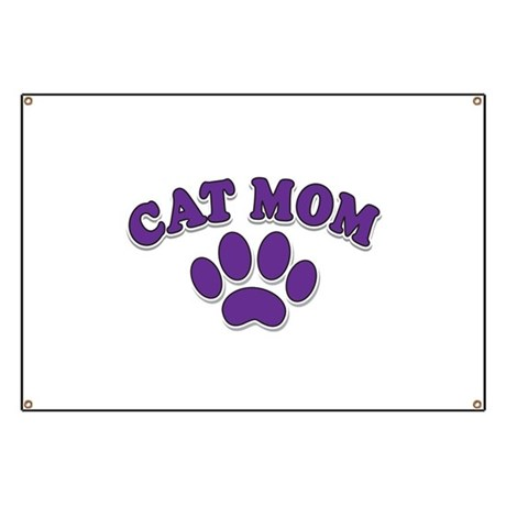 Cat Mom Banner