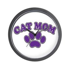 Cat Mom Wall Clock