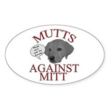 Mutts Against Mitt Decal
