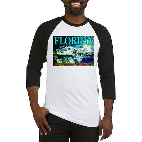 Florida Alligator Anyone for Baseball Jersey