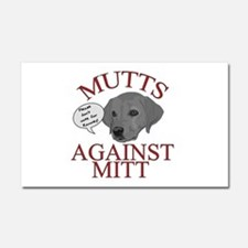 Mutts Against Mitt Car Magnet 20 x 12