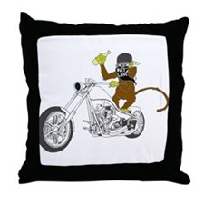 Drunken Monkey Throw Pillow