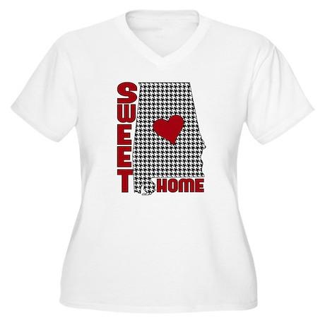 Sweet Home Bama Women's Plus Size V-Neck T-Shirt
