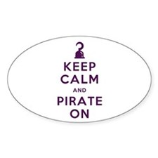 Keep Calm and Pirate On Decal