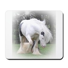 All White Stallion Mousepad