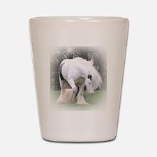 All White Stallion Shot Glass