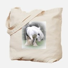 All White Stallion Tote Bag