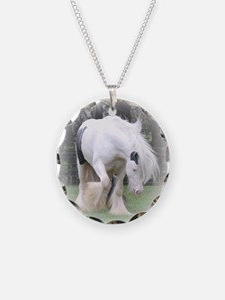 All White Stallion Necklace