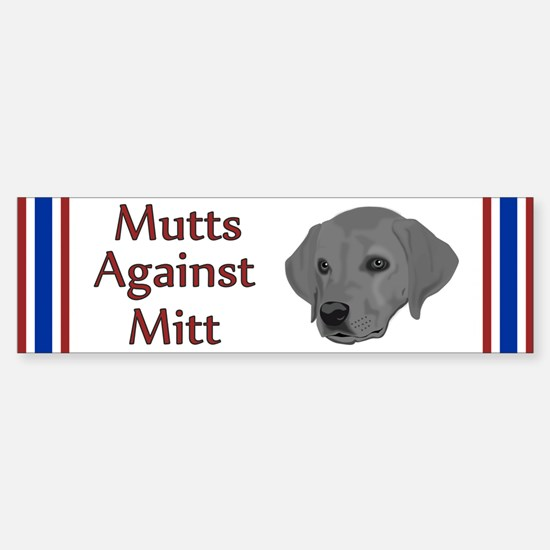 Mutts Against Mitt Sticker (Bumper)
