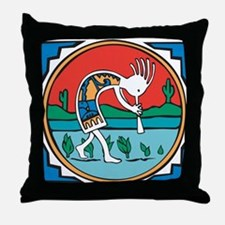 Kokopelli Man Throw Pillow