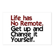 Life Has No Remote Postcards (Package of 8)