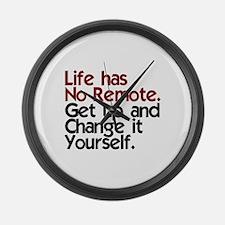 Life Has No Remote Large Wall Clock