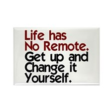 Life Has No Remote Rectangle Magnet (100 pack)